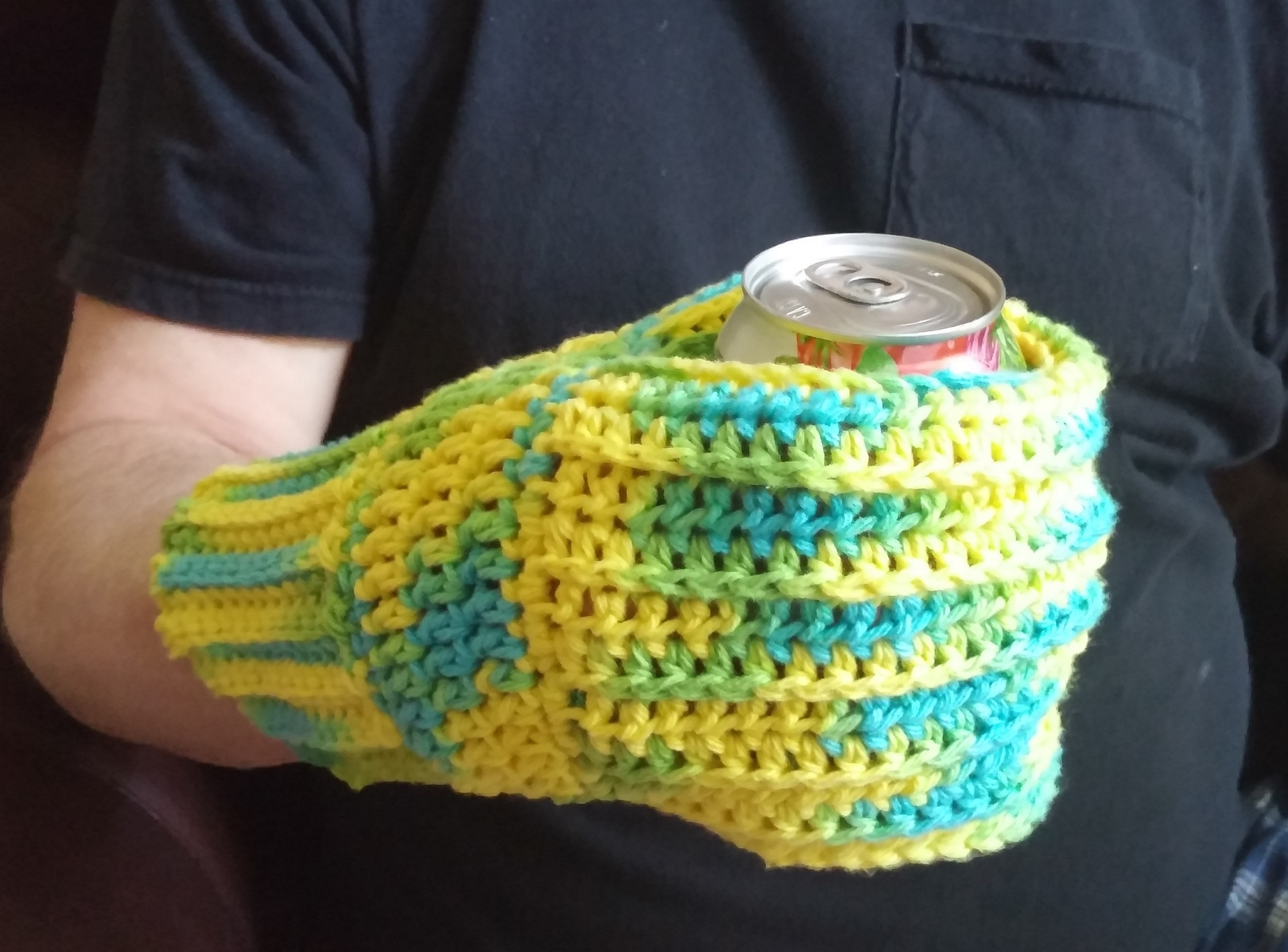 Shop wendis workbasket worked all in one piece with only two ends to sew in this mitt makes a great gift the inner sleeve fits snugly around a can or bottle and the outer glove bankloansurffo Choice Image